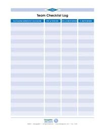 Team Checklist Logs (individual forms)