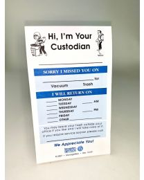 """Hi, I'm your Custodian"" Note Pads"