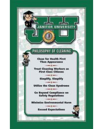 Large Philosophy of Cleaning Poster